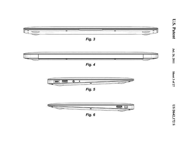 Apple MacBook Air 2010 patent