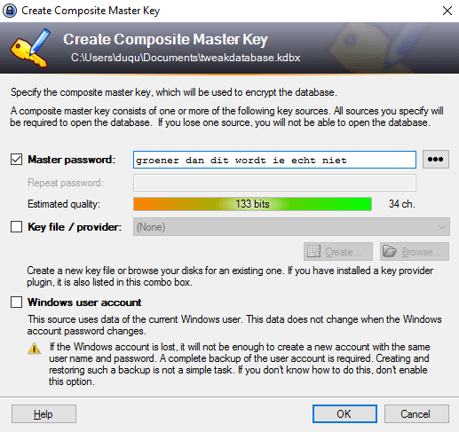 keepass2 interface 2