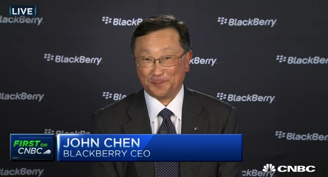 BlackBerry-directeur John Chen in interview met CNBC