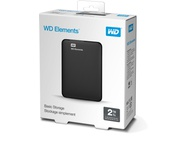 WD Elements Portable Storage 2TB Zwart