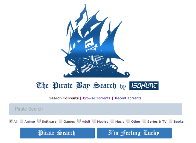 Pirate Bay door IsoHunt