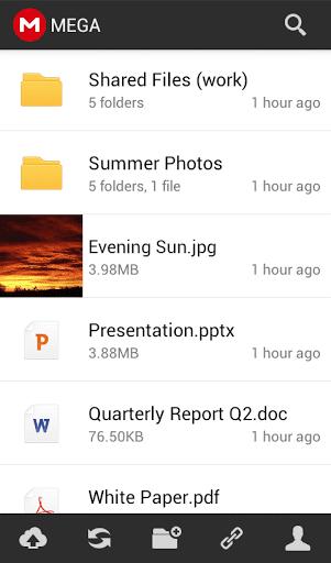 Mega-app voor Android