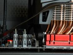 zijaanzicht koelerblok met ventilator detail onder
