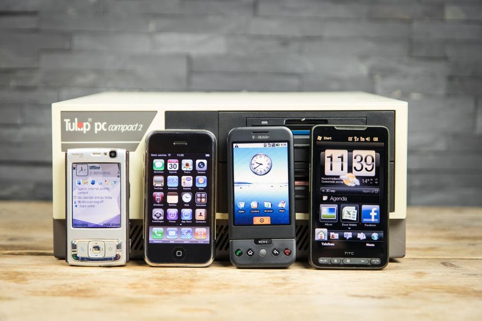 Nokia N95, iPhone 2g, T-Mobile G1 en HTC HD2