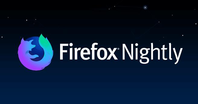 Firefox Nightly banner