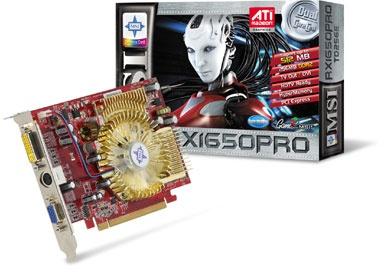 MSI RX1650PRO-TD256E - graphics card - Radeon X1650 Pro - 256 MB Specs