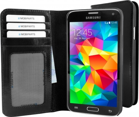 Mobiparts Excellent Wallet Case Samsung Galaxy S5/S5 Plus Jade Black
