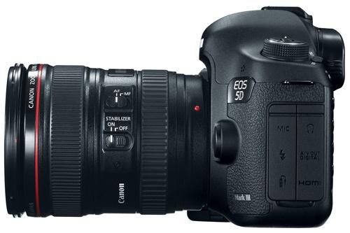 Canon EOS 5D Mark III side