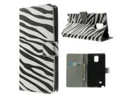 Goedkoopste Kees Samsung Galaxy Note 4 Portemonnee Hoesje Zebra Print