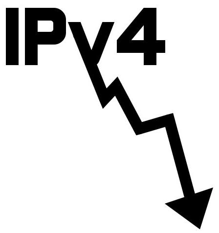 IPv4 daalt
