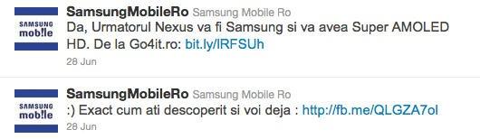 Samsung Romania tweet
