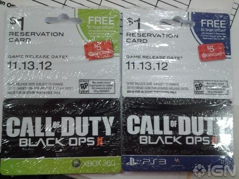 Call of Duty Black Ops II voorverkoopkaarten