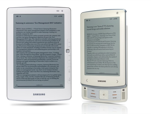 Samsung E101 en E6 e-readers