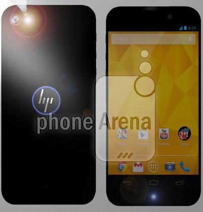 HP render van smartphone