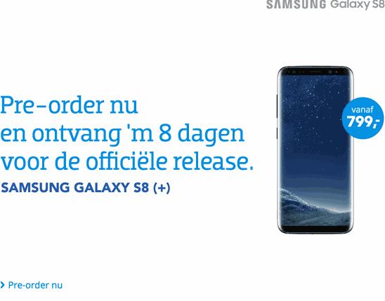 Samsung S8 19 april Cool Blue