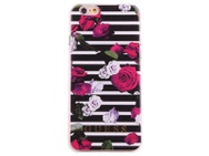 Guess Apple iPhone 6 / 6S Originele Rozen Bloemen Hardcase Rose hoesje - Zwart
