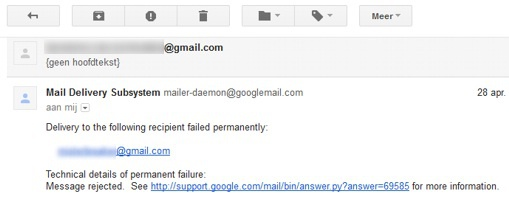 Gmail delivery problem