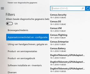 Microsoft Diagnostic Data Viewer voor Windows 10