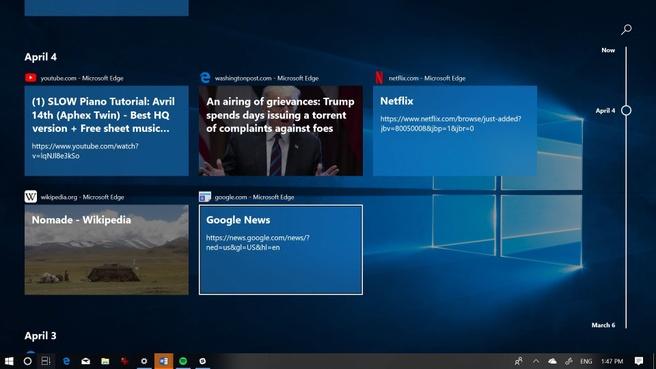 Windows 10 Spring Creators Update Timeline