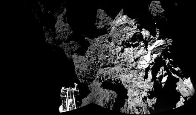 Foto van komeet 67P/C, bron:ESA
