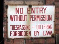 No entry / censuur