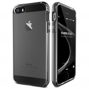 VRS DESIGN Crystal Bumper Apple iPhone SE Case - Steel Silver