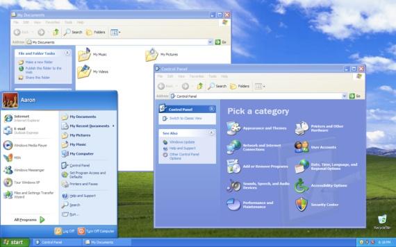 Screenshot van Windows XP