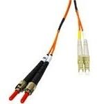 CablesToGo 1m LC/ST LSZH Duplex 62.5/125 Multimode Fibre Patch Cable