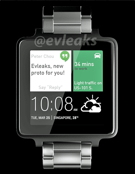 HTC smartwatch render