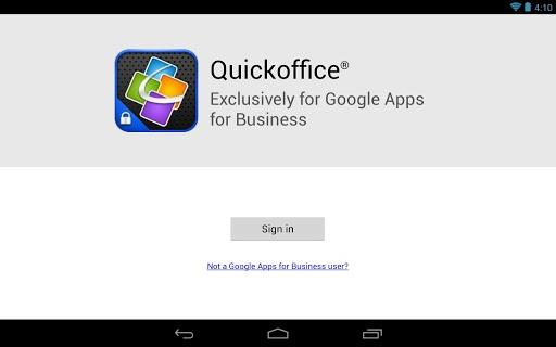 Quickoffice met Google Apps