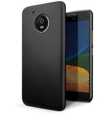 qMust Motorola Moto G5 Plus Hard Back Case - Black