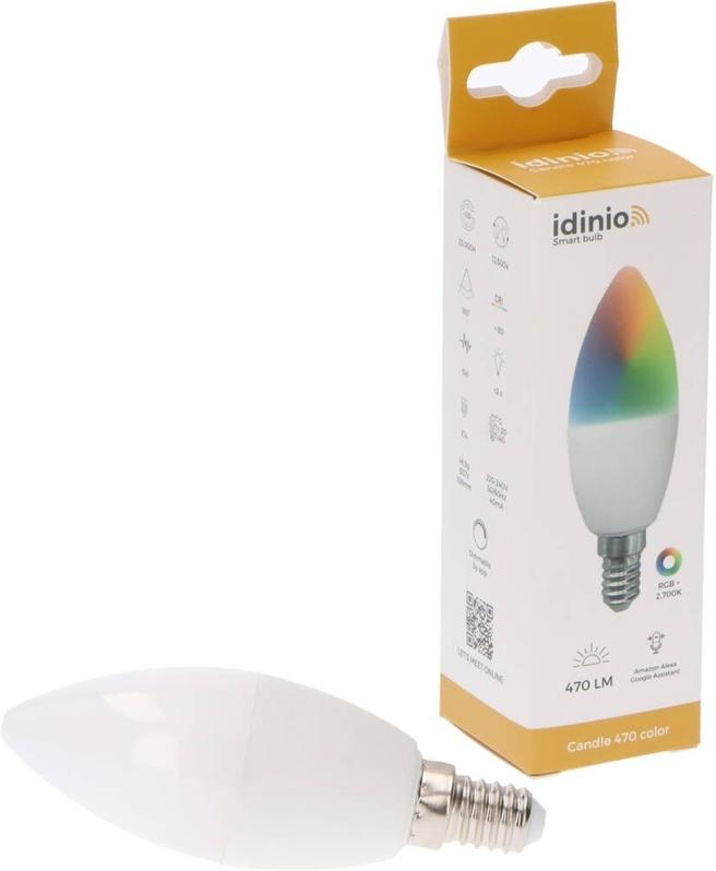 Idinio Idinio Smart Lamp E14 kaars RGB+WW 5W (40W)