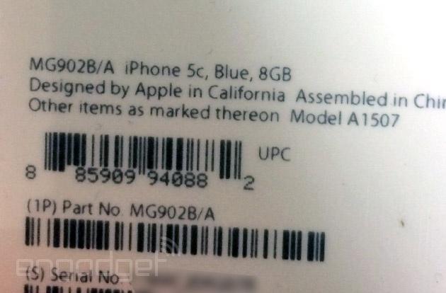 iPhone 5c 8GB mogelijke verpakking