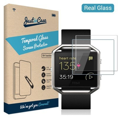 Just in Case Tempered Glass Fitbit Blaze - 2 pack