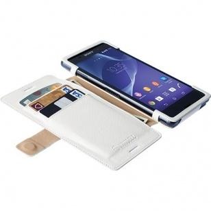 Krusell Malmo FlipWallet Sony Xperia M4 - hoesje met stand - wit
