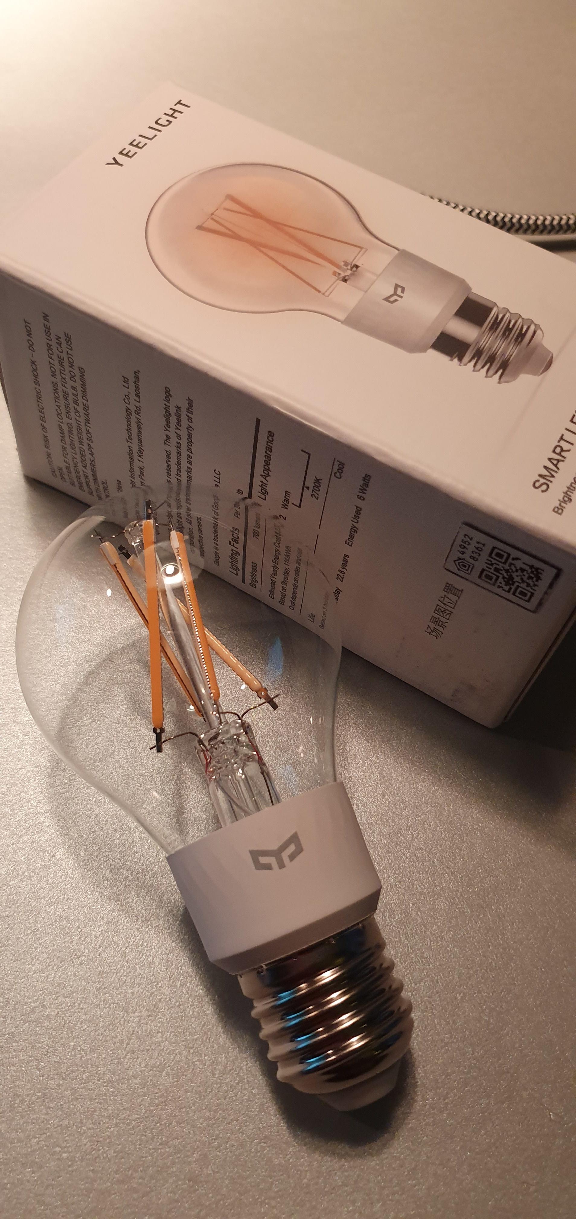 filament aan en verpakking