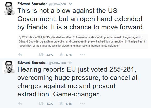 edward snowden tweet