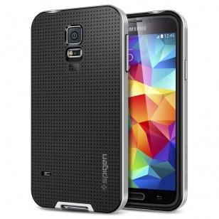 Spigen Case Neo Hybrid Samsung Galaxy S5 (satin silver) SGP10771