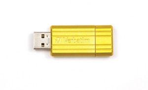 Verbatim Store 'n' Go PinStripe 8GB Geel