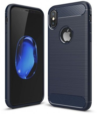 qMust Apple iPhone X Rugged TPU Hoesje Blauw