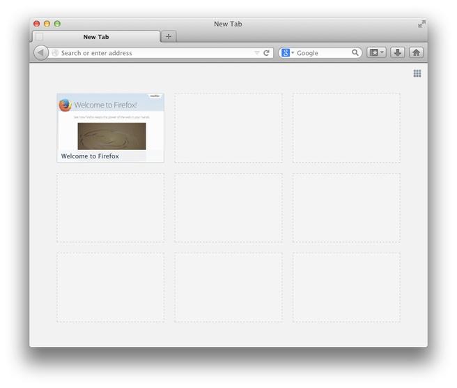 Firefox nieuwe tab Directory Tiles