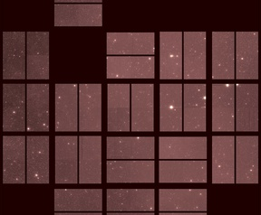 Eerste (links) en laatste opnames van de Kepler-ruimtetelescoop