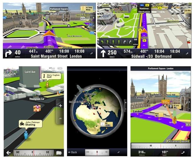 Sygic Aura 3d-navigatie