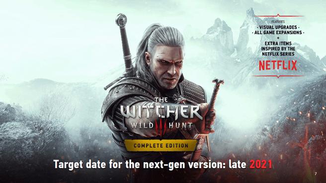Tingkatkan generasi berikutnya dari The Witcher 3