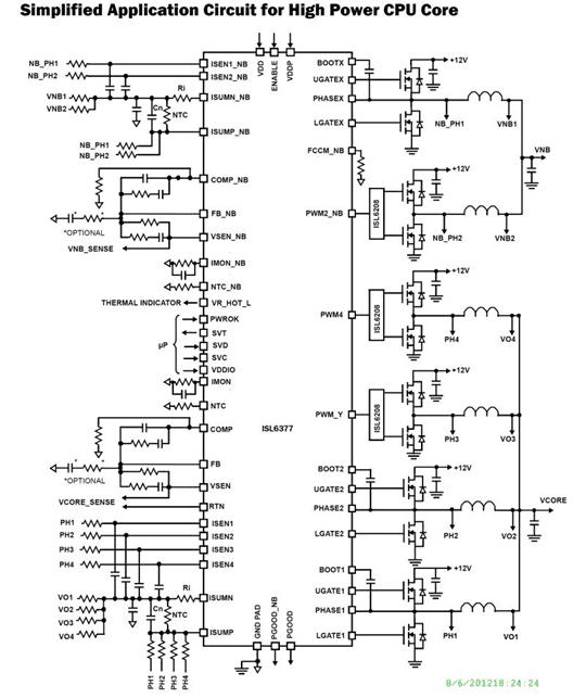 Intersil ISL6377 schema