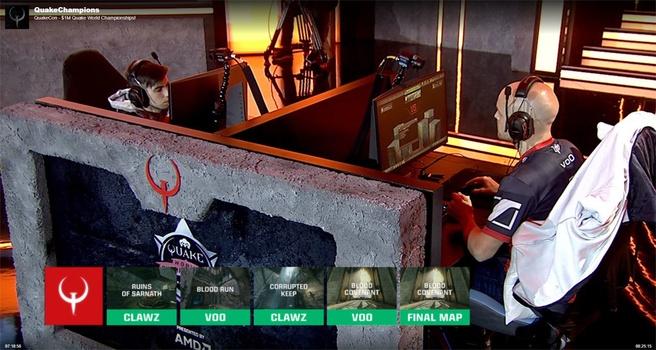 Sander 'Vo0' Kaasjager (rechts) in de finale tegen clawz