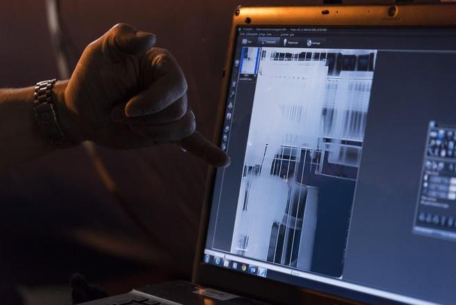 röntgenopname sector lhc met stukje metaal