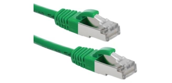 Eeconn Cat.6 S/FTP Patchkabel, AWG26, LSZH, Groen, 1m