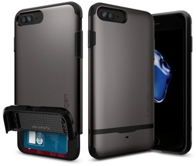 Spigen Flip Armor Apple iPhone 7 Plus Case - 043CS20776 - Gunmetal