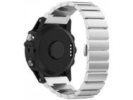 Goedkoopste qMust Metalen armband Chain Garmin Fenix 3 / Fenix 3 HR - Zilver